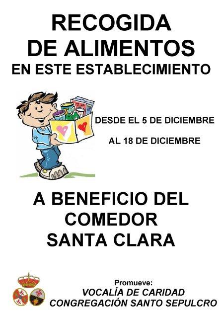 RECOGIDA ALIMENTOS COMEDOR SANTA CLARA
